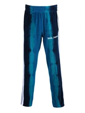 Tie-dye track pants BLUE