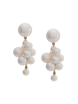 Botticelli pearl cluster earrings