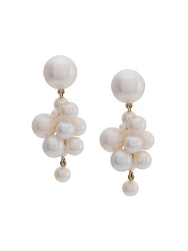 Botticelli pearl cluster earrings
