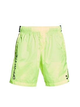 Off-white - Neon Yellow Swim Shorts - Shorts