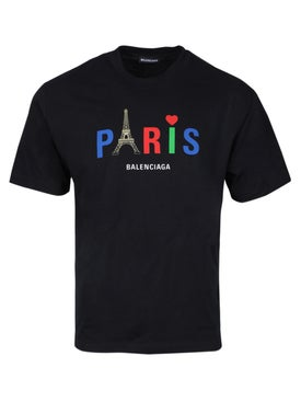 Balenciaga - Paris Eiffel Logo T-shirt - Men
