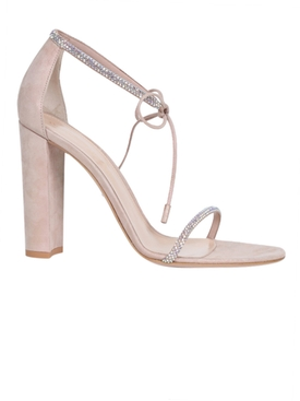 Aria Block Heel Sandal, Nude