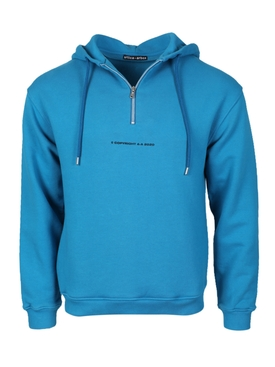 COPYRIGHT GRAPHIC HOODIE, Blue