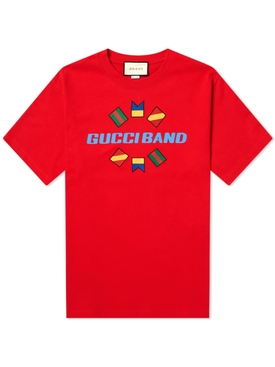 Gucci Band t-shirt LIVE RED