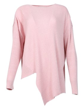 Marques'almeida - Lurex Crewneck Asymmetric Jumper Pink - Women