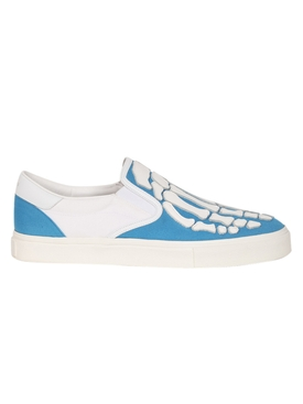 SKELETON TOE LACE UP SNEAKER BLUE & WHITE