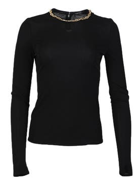 Versace - Chain Detail Long-sleeve Top - Women