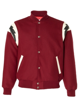 Red Varsity Bomber Jacket