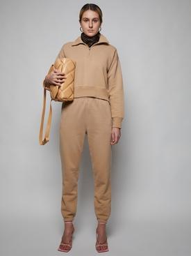 70s Half Zip Pullover Sweater, Faded Khaki