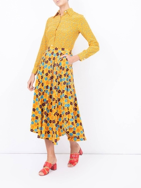 Sunny Floral Star Island Shirt YELLOW