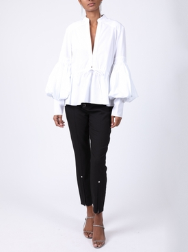 Lantern sleeve top WHITE