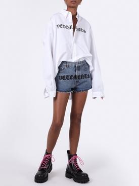 Gothic print shorts