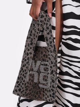 Embellished leopard print hand bag