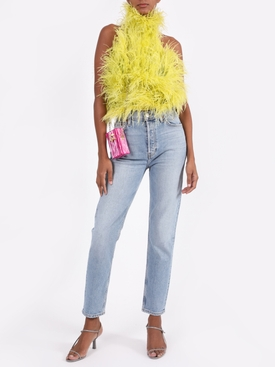 FEATHERS HIGH NECK TOP