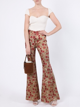 Flared red floral Stockard Pant
