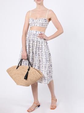 Sylvia Floral Tile Midi Skirt