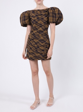 Shelly Brown Check Print Dress