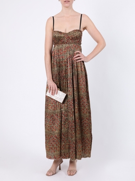 Jordyn Red Paisley Print Maxi Dress