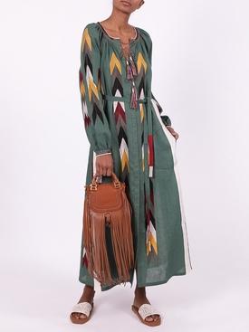 Arizona embroidered linen dress GREEN