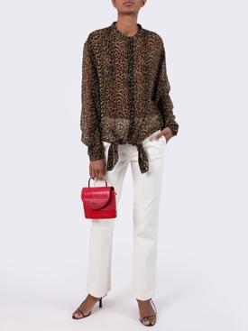 Leopard print wool shirt