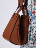 Loewe - Leather Hammock Bag Brown - Women