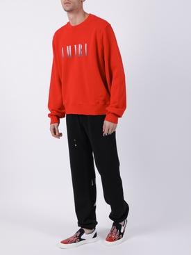 Contrasting logo sweatshirt RED