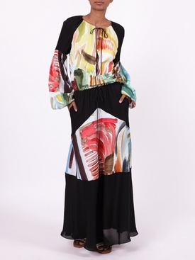 BOHEMIAN MAXI DRESS, multicolor