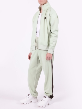 pastel green paneled lounge pants