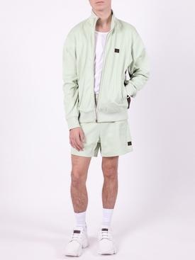 pastel green Paneled track shorts