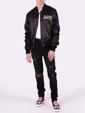 Players club bomber jacket BLACK