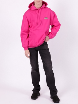Bonjour logo patch hoodie PINK