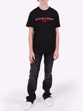 Two-tone logo t-shirt BLACK