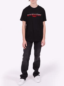 Givenchy - Two-tone Logo T-shirt Black - Men