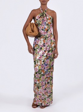 Alyona tropical floral print dress