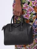 Givenchy - Small Pebbled Leather Antigona Bag Black - Women
