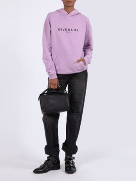 Givenchy - Distressed Logo Print Hoodie Pink - Women