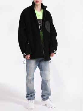 EQUIPMENT FLEECE JACKET BLACK