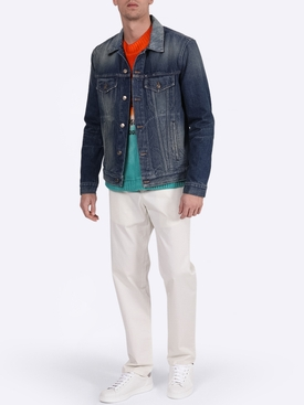 Sarape knit denim jacket