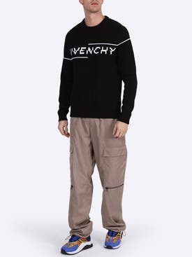 Givenchy - Intarsia Logo Knit Sweater Black/white - Men
