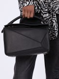 Loewe - Pebbled Leather Puzzle Bag Black - Women