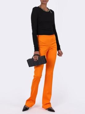 High-waisted boot cut pants