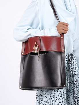 red and black Aby shoulder bag