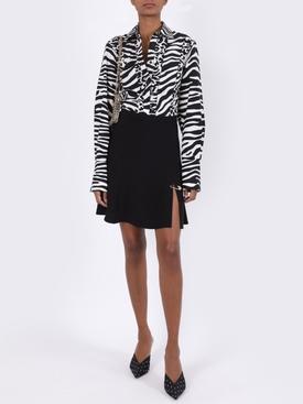 Black and white zebra print shirt
