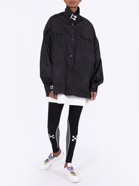 black nylon track jacket