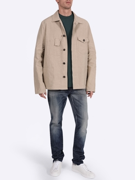 Multi-pocket shirt jacket