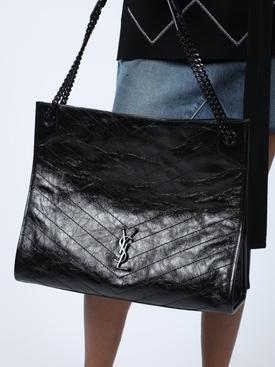 Niki Monogram Bag, Black