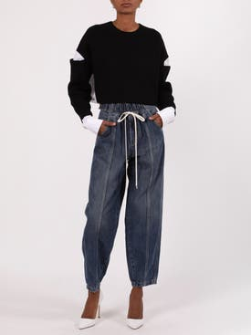 Givenchy - Denim Panel Joggers - Women
