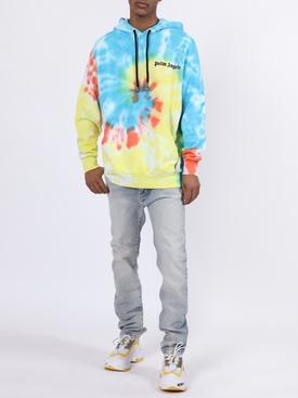 Multicolored tie-dye hoodie