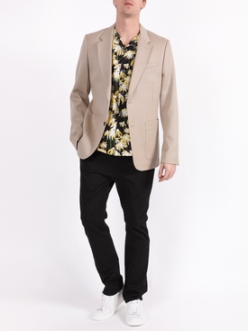Single breasted blazer jacket BEIGE MASTIC
