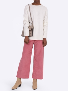 High waist side button trousers